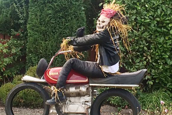 Biker Scarecrow