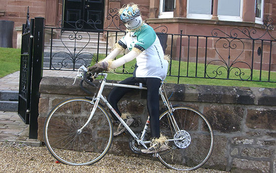Scarecrow-Cyclist